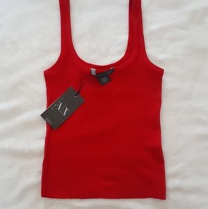 Armani exchange red crop tank